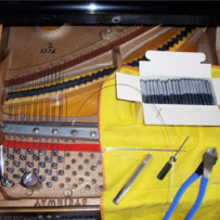 Restringing a Steinway Z Piano